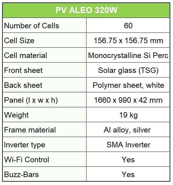 Aleo X59L 320 Watts – Solar Edge Inverter - BT Commercial Malta